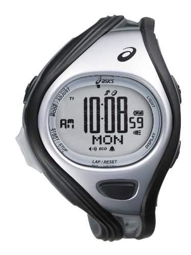 Asics Unisex-Armbanduhr DIGITAL SPORTWATCH CHALLENGE L schwarzsilber Digital Plastik CQAR0401