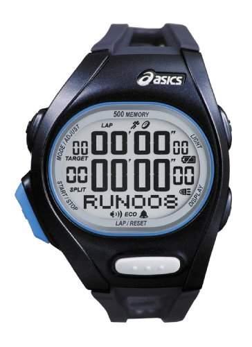 Asics Unisex-Armbanduhr DIGITAL SPORTSWATCH ELITE L tiefseeblau Digital Plastik CQAR0202