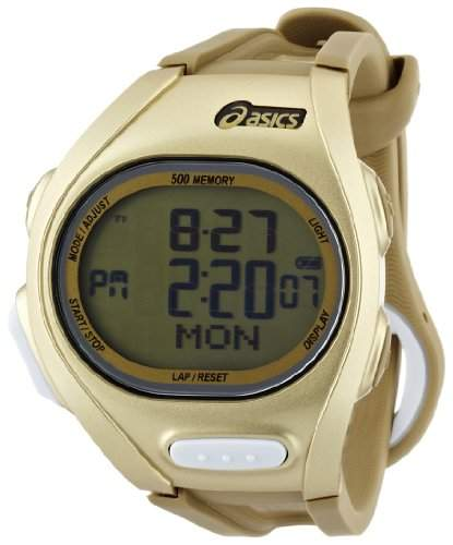 Asics Unisex-Armbanduhr DIGITAL SPORTSWATCH ELITE L gold Digital Plastik CQAR0208
