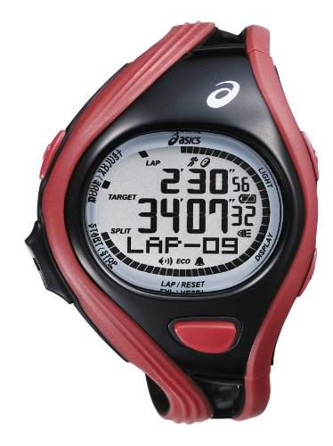 Asics Unisex-Armbanduhr DIGITAL SPORTWATCH CHALLENGE L rotschwarz Digital Plastik CQAR0404