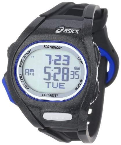 Asics Maedchen-Armbanduhr DIGITAL SPORTSWATCH ELITE S nachtschwarz Digital Plastik CQAR0101