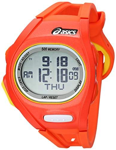 Asics Unisex-Armbanduhr DIGITAL SPORTSWATCH ELITE S orange Digital Plastik CQAR0107