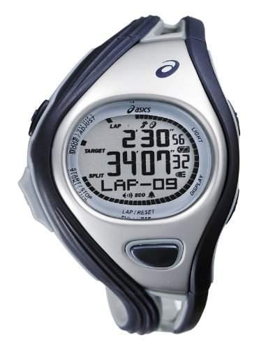 Asics Unisex-Armbanduhr DIGITAL SPORTWATCH CHALLENGE S dunkelblausilber Digital Plastik CQAR0302