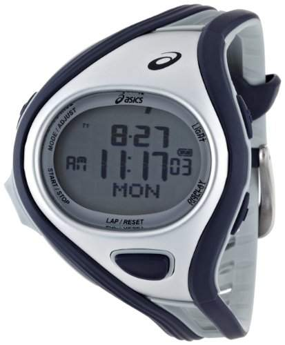 Asics Unisex-Armbanduhr DIGITAL SPORTWATCH CHALLENGE L dunkelblausilber Digital Plastik CQAR0402