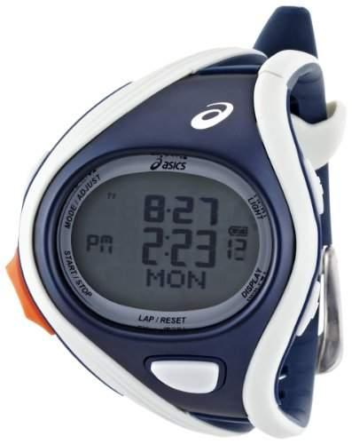 Asics Unisex-Armbanduhr DIGITAL SPORTWATCH CHALLENGE L graudunkelblau Digital Plastik CQAR0403