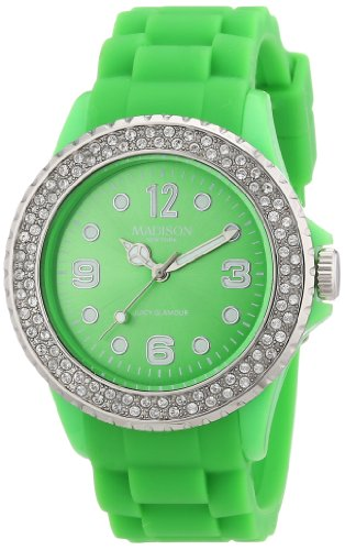 Madison New York Unisex Armbanduhr Juicy Glamour Analog Silikon U4101Q5