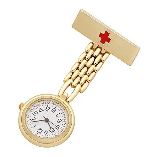 ShoppeWatch Krankenschwester Anstecknadel Revers Uhr Unisex FOB Taschen Uhr NW 241