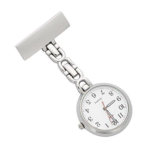 ShoppeWatch Krankenschwestern Revers Anstecknadel Uhr 24 Stunden Militaerzeit Analoger FOB Infektion Steuern Uhr NW 231