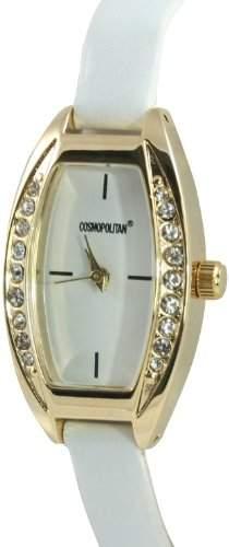 Cosmopolitan Damen Armbanduhr Analog Kunststoff weiss COS492A