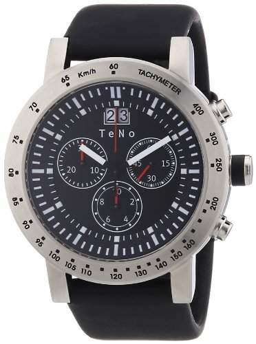 Teno Damen-Armbanduhr Chronograph Kautschuk 089820113