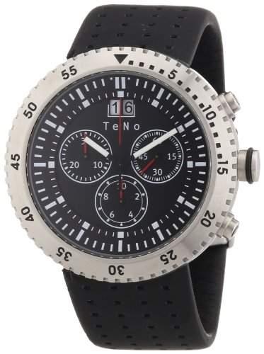 Teno Damen-Armbanduhr Chronograph Kautschuk 089830112