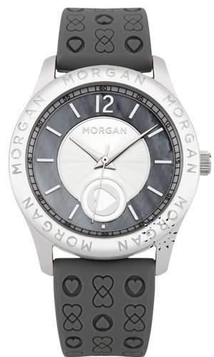 Morgan De Toi Damen-Armbanduhr M1132E-Zifferblatt Grau-Armband Kunststoff grau