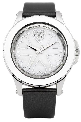 Morgan de Toi Damen Armbanduhr Analog Quarz Schwarz M1128S