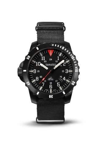 TAWATEC Black Titan Diver Tactical Blue - Nato Armband