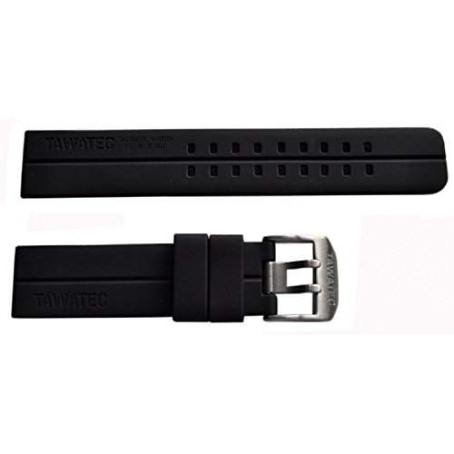 TAWATEC Silikonarmband - Doppeldorn-Schliesse - passt an alle Armbanduhren mit 22mm Bandanschlag