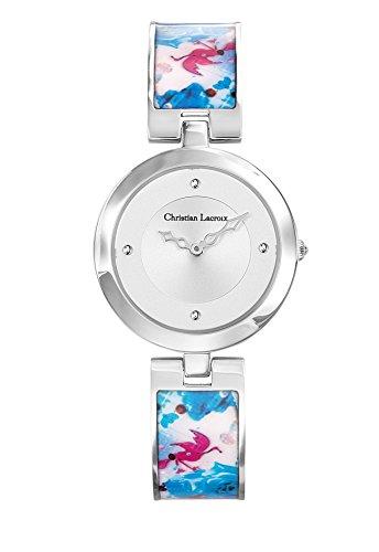 Zeigt Damen Christian Lacroix Flower Zone Armband Stahl lackiert bedruckt 8010107