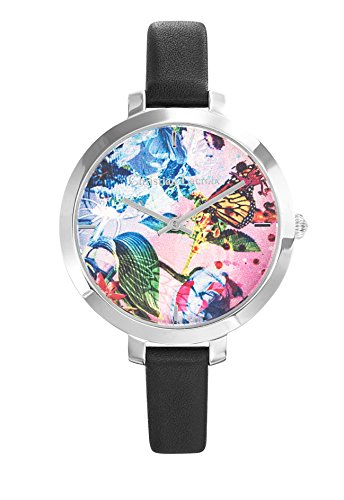 Zeigt Damen Christian Lacroix Flower Zone Armband Leder Schwarz 8009709