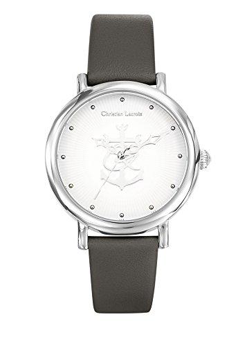 Zeigt Damen Christian Lacroix La Croix de Camargue Armband Leder grau 8010502
