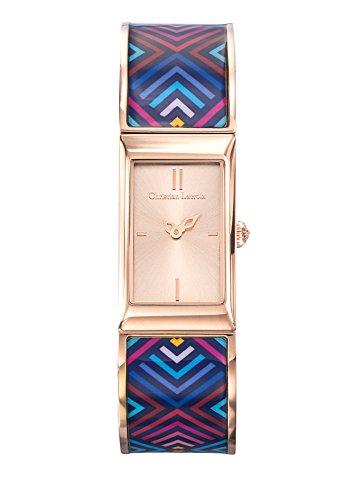 Zeigt Damen Christian Lacroix unglaubliche Armband Stahl PVD rose lackiert bedruckt 8010210