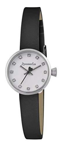 Accessorize WomenHerren-Armbanduhr 17251562 Analog-Anzeige und Schwarz PU Strap AZ2005