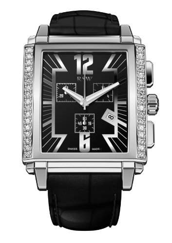 RSW Herren-Armbanduhr XL Hampstead Analog Leder 4220BSA11D1