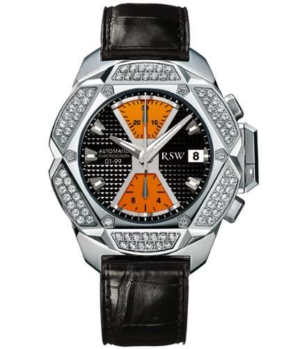 RSW Herren-Armbanduhr XL Nazca Analog Automatik Leder 4400MSA183D1