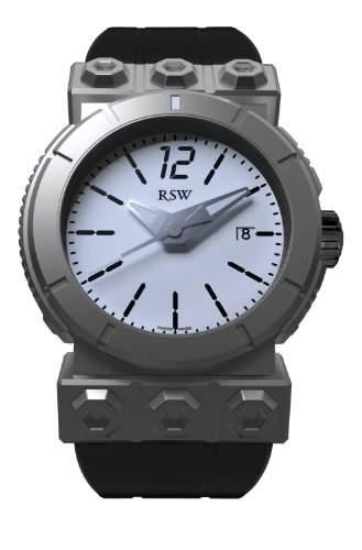 RSW Herren-Armbanduhr XL Outland Round Analog Automatik Kautschuk 7125MSR1H200