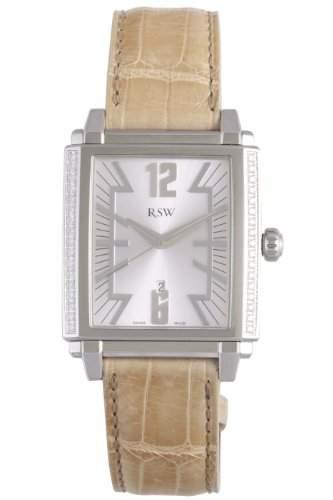 RSW Herren-Armbanduhr XL Hampstead Analog Leder 9220BSA55D1