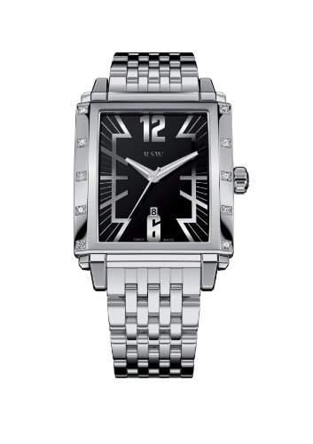 RSW Herren-Armbanduhr XL Hampstead Analog Edelstahl 9220BSS01D0