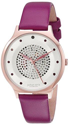 Johan Eric Damen je1600 09 001 12 orstead Analog Display Japanisches Quarz Lila Armbanduhr