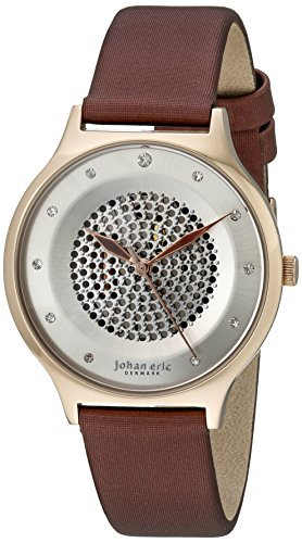 Johan Eric Damen je1600 09 001 14 orstead Analog Display Japanisches Quarz braun Armbanduhr