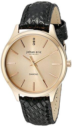 Johan Eric Damen JE2200 09 016 7 Herlev Analog Display Quartz Black Watch