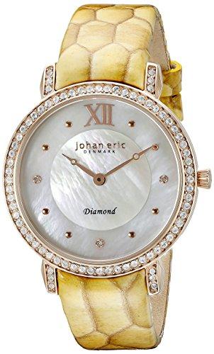 Johan Eric Damen je7000 09 009 09 Ribe Analog Armbanduhr Display Gelb Quarz