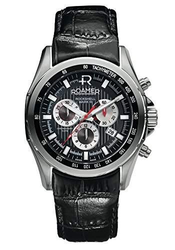 Roamer Herren-Armbanduhr Rockshell Chronograph Quarz Leder 220837 SL2