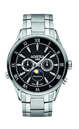 Roamer Herren-Armbanduhr Moonphase Chronograph Quarz Edelstahl 508821 SM2