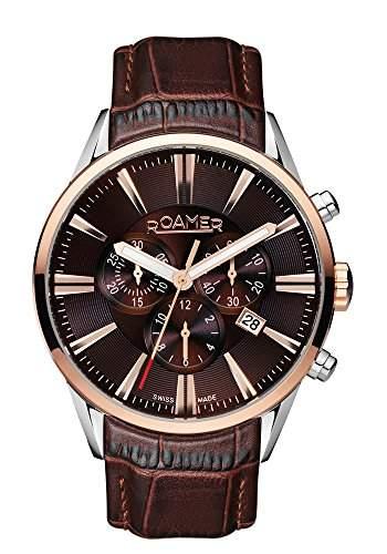 Roamer Herren-Armbanduhr Superior Chronograph Quarz Leder 508837 SRGL1