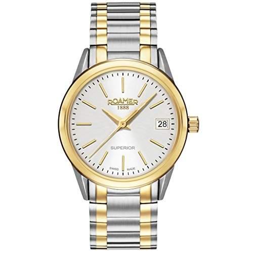 ROAMER 508856 SGM1 Superior Uhr Damenuhr Edelstahl 50m Analog Datum bicolor