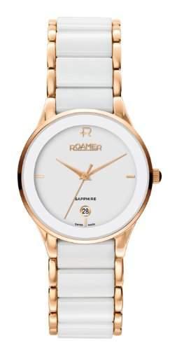 Roamer Damen-Armbanduhr CERALINE SAPHIRA LADY Analog Quarz Keramik 677981 SRGC2