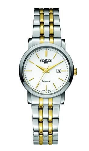 Roamer Damen-Armbanduhr Analog Quarz Edelstahl beschichtet 709844 SGM1
