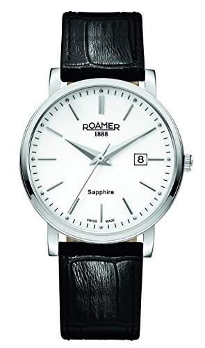 Roamer Herren-Armbanduhr Analog Quarz Leder 709856 SL1