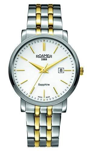 Roamer Herren-Armbanduhr Analog Quarz Edelstahl beschichtet 709856 SGM1