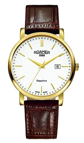 Roamer Herren-Armbanduhr Analog Quarz Leder 709856 GL1