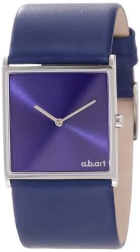 ab art Damen E109 Series E Stainless Steel Swiss Quartz Blue Dial and Leather Strap Uhr