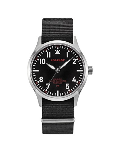 Pop Pilot Unisex Armbanduhr JFK Analog Quarz Nylon P4260362630055