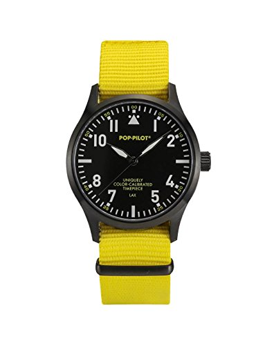 Pop Pilot Unisex Armbanduhr LAX Analog Quarz Nylon P4260362631083