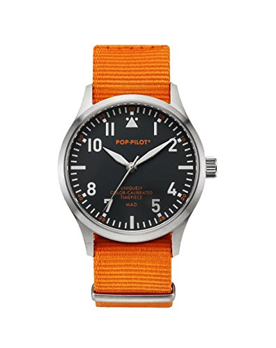 Pop Pilot Unisex Armbanduhr MAD Analog Quarz Nylon P4260362630086