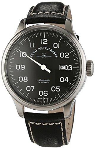 Zeno Watch Basel XL Oversized Analog Automatik Leder 8554UNO pol a1