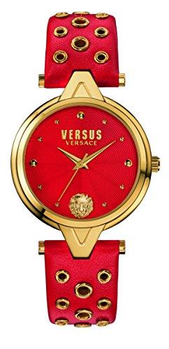 Versus Damen Armbanduhr Analog Quarz Leder SCI020016