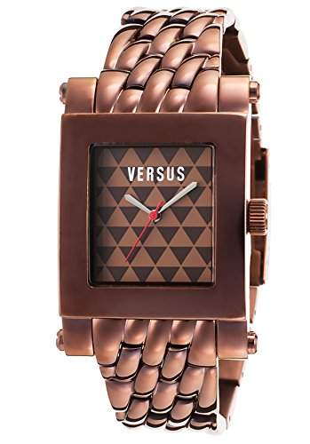 Versus Pret a Porter Herren-Armbanduhr Armband Vergoldetes Edelstahl Bronze + Gehaeuse Quarz Analog 3C7170