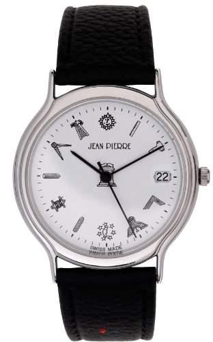 Herren Armbanduhr mit Chrom-Finish Freimaurersymbol